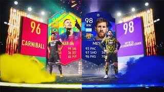 MESSI MOTM CHAMPIONS Y NEYMAR CARNABOLA IN PACKS!! | TOP SOBRES #16 | FIFA 19