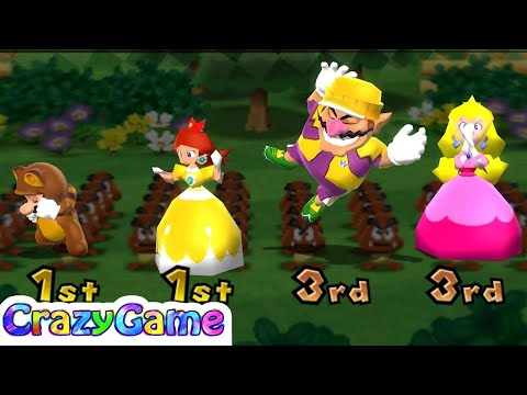 Mario Party 9 Garden Battle - Shy Guy v Koopa v Wario v Daisy Master