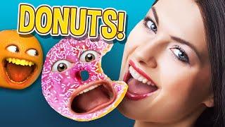 Annoying Orange - Go NUTS for DONUTS!!! (Supercut)