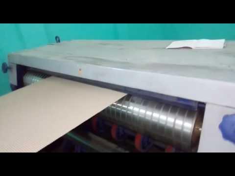 Double Profile Single Face Paper Corrugated Machine