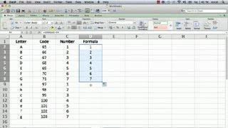 Formulas in Microsoft Excel: How to Change a Letter Into a Number : Using Microsoft Excel