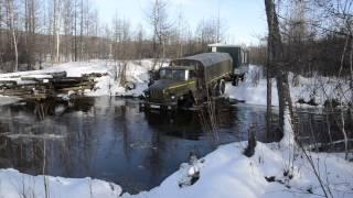 Урал проехал через глубокий брод