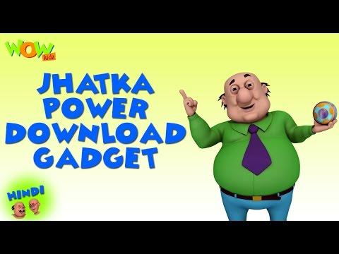 Jhatka Power Download Gadget - Motu Patlu in Hindi - 3D Animation Cartoon -As on Nickelodeon