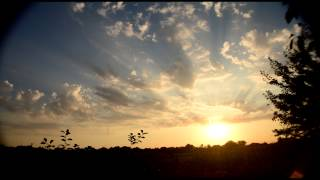 Time lapse Заката с потрясающими лучами Солнца в Лазурном Украина (26 секунд=55 минут) 25.07.2015