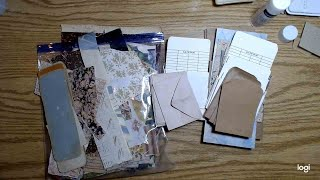 File Folder Project, Tall Lap Books, Part 4, Plans For Pockets, Laying The Base For Embellishments