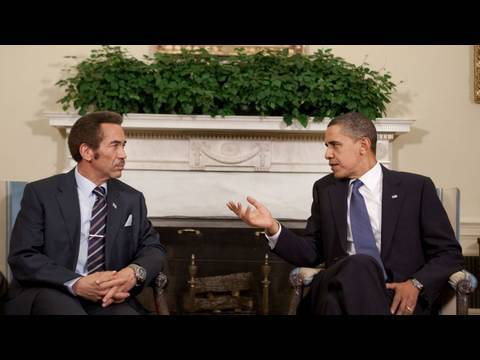 President Obama Meets with Botswana President Khama