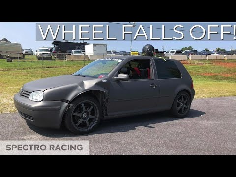 Wheel falls off at Autocross - Epic Fail on our GTI Track Car