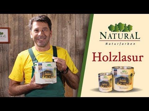 Naturöl Holzlasur richtig streichen: Holz lasieren Innen und Außen