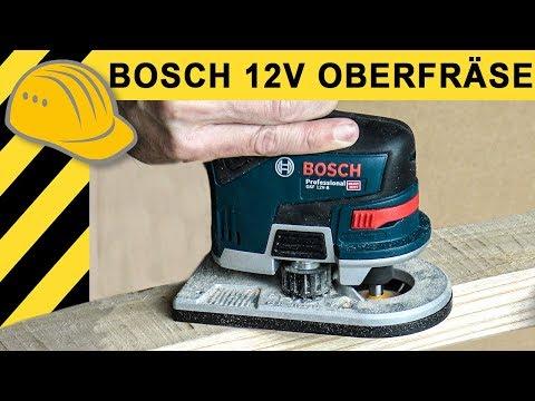 Genial - 12V Akku OBERFRÄSE! Neue Bosch GKF 12V-8 Kantenfräse im TEST