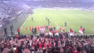 preview picture of video 'SC Freiburg Mannschaft nach 5:2 Auswärtssieg in München'