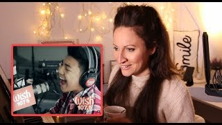 Vocal Coach REACTS/ANALYSES- to DARREN ESPANTO - Chandelier (Sia) LIVE Cover on Wish FM 107.5 Bus