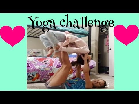 Yoga challenge,with little sister