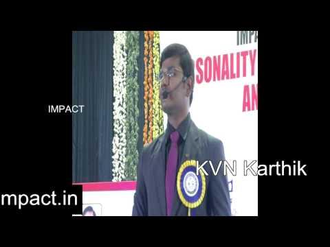 Job Skills | KVN Karthik | TELUGU IMPACT Tirupati 2014