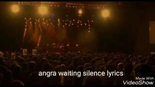 Angra waiting silence live-lyrics