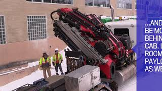 What is a knuckle boom crane?