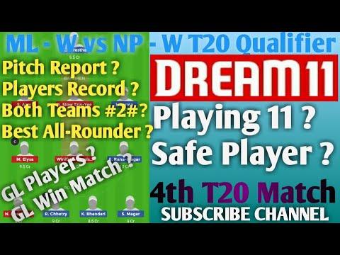 #MLWvsNPw# ML - W vs NP - W T20 Qualifier Match dream 11 Team