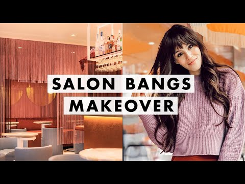 SALON BLOWOUT + Getting My Bangs Cut!