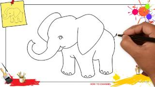 How To Draw An Elephant SIMPLE & EASY Step By Step For Beginners