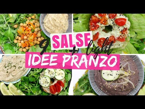 18 IDEE SFIZIOSE PER LA DIETA: SALSE LIGHT PER PASTA E INSALATE + IDEE PRANZO LIGHT