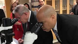Menendez, Booker Tour Rutgers Infectious Disease Lab
