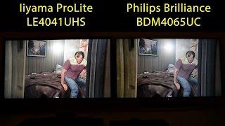 Iiyama ProLite LE4041UHS-B1 vs. Philips Brilliance BDM4065UC UHD 4K Monitor Vergleich Comparison