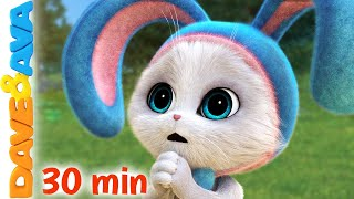 🐰 Sleeping Bunnies and More Nursery Rhymes and Kids Songs | Dave and Ava 🐰