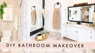 DIY BATHROOM MAKEOVER ON A BUDGET -  Modern Boho Bathroom Decorating Ideas