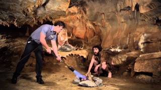 Clever Commercials with Jingles - Michael & Son Caveman
