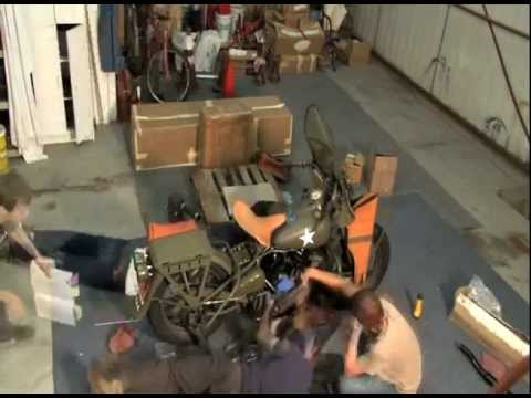 Harley WLA 45 Solo, 42WLA Liberator Military Motorcycle Restoration Time Lapse Assembly in 36 hours