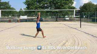 Beach Volleyball Dynamic Warm Up and Movement Prep - Tutorial