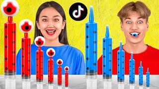 SAKIN YANLIŞ GİZEMLİ KUTUYU SEÇME || 123 GO! CHALLENGE TikTok İçecek Meydan Okuması — Gel De Gülme!
