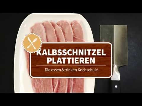 Kalbsschnitzel plattieren