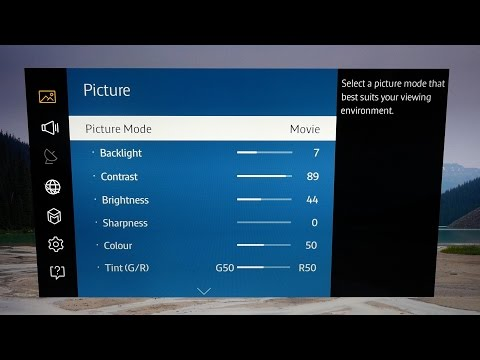 Picture Settings for Samsung UE40JU6400 4K TV