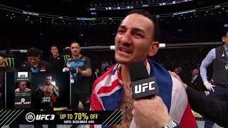 UFC 231 Макс Холлуэй слова после боя