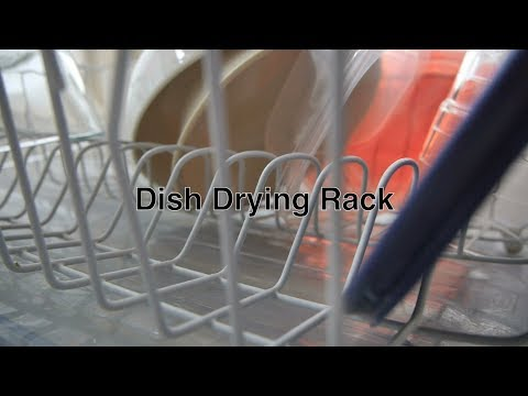 Dish Drying Rack Drainer w/ Tray For Best Storage of Dishes to Utensils & Glassware For Kitchen Sink