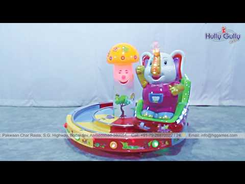 Elephant Train Kiddie Amusement Ride Game