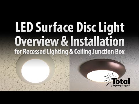 Sylvania Ultra LED Disc Light Overview & Installation