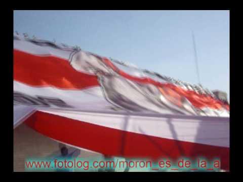 """""""los borrachos de moron y el telon frente atlanta 21.03.09"""" Barra: Los Borrachos de Morón • Club: Deportivo Morón"""