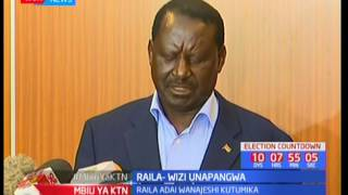 Raila Odinga adai kwamba kuna njama ya wizi wa kura kwa kutumia jeshi