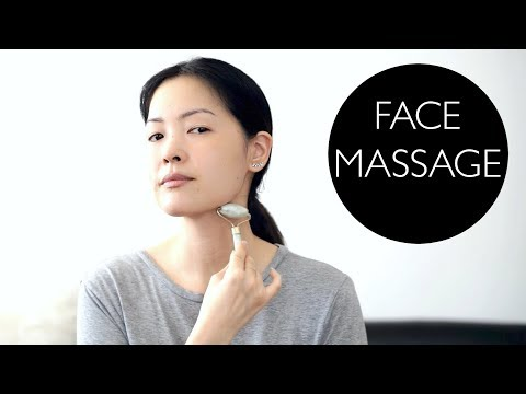 Facial Lymphatic Drainage Massage Using Jade Roller!