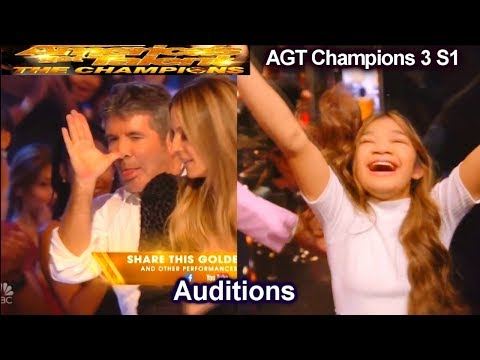 Angelica Hale Intro Story and After Golden Buzzer  Audition | America's Got Talent The Champions 3 AGT (видео)