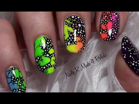 Abstraktes Regenbogen Ombre Sommer Nageldesign mit Nagellack / Colorful Rainbow Nails Tutorial