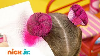 How to Create a Cupcake Updo Tutorial  🍰 | Sunny Day's Style Files | Nick Jr.