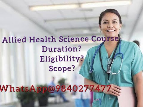 Bsc Allied Health Science Course Details in Tamil | Paramedical Courses | After +2 Science Group