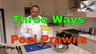 How to shell & devein Prawns 3 ways | The Hook and The Cook