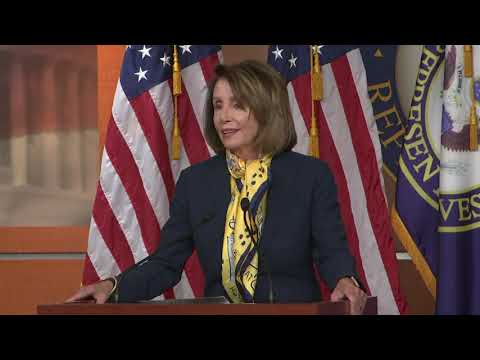 "Hours after President Donald Trump said he would postpone this year's State of the Union address, House Speaker Nancy Pelosi said she's glad the issue is ""off the table"" and leaders can shift focus back to reopening the government. (Jan. 24)"