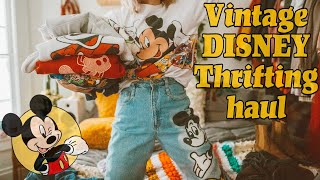HUGE VINTAGE DISNEY THRIFTING HAUL!