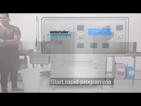 Winterhalter Rack Type Dishwasher With Dryer