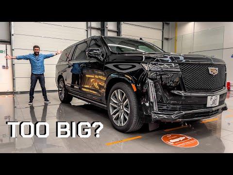 The Biggest Car In The UK! £100k Super-Luxury Cadillac Escalade ESV!