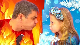 Nastya and a collection of funny stories about dad and Nastya's friends